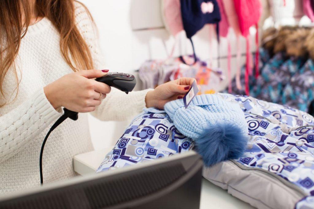 Barcodescanner voor kledingwinkels