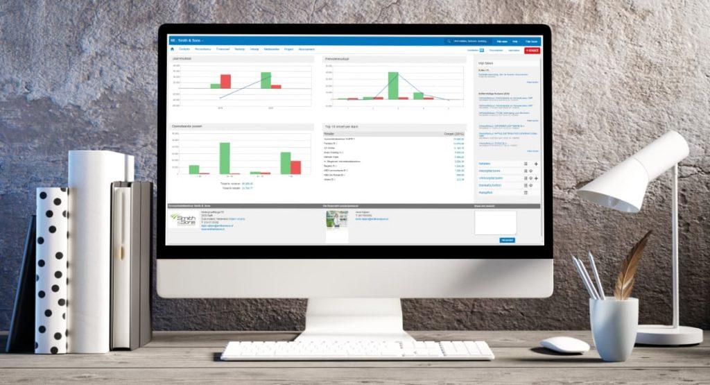 Exact boekhoudsoftware dashboard