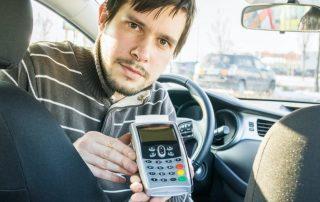 pinautomaat voor taxi