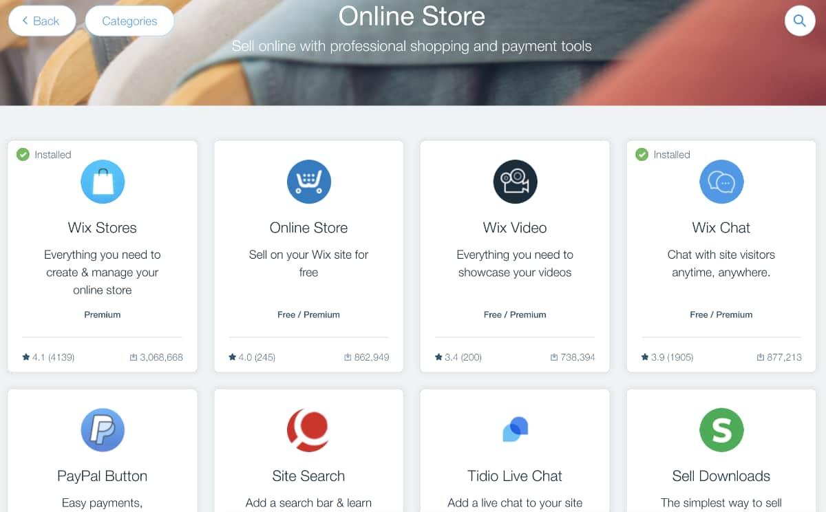 Wix App Markt
