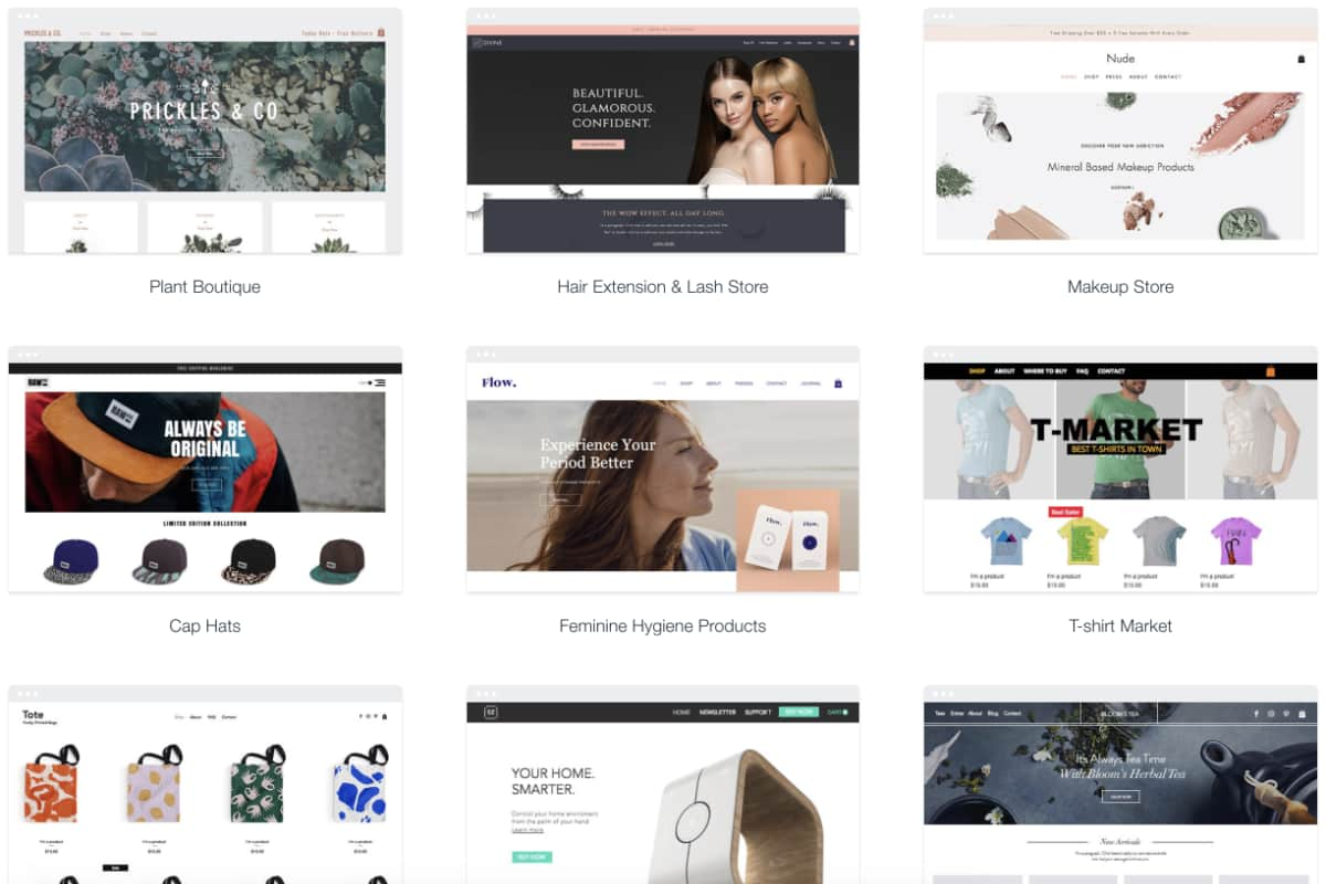 Wix webshop templates