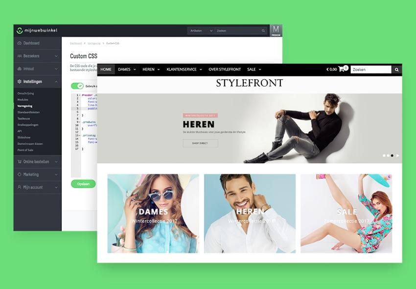 Mijnwebwinkel voorbeelden