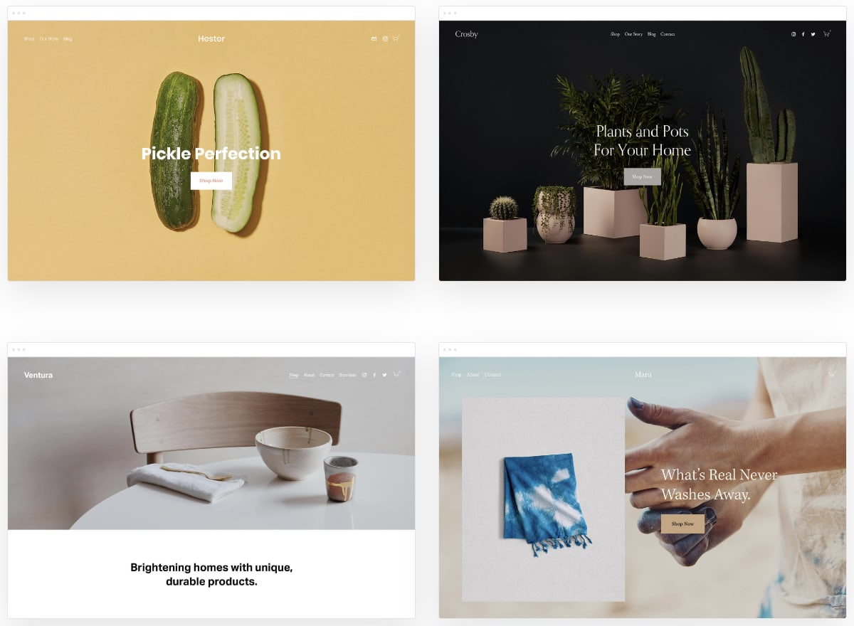 Squarespace shop templates