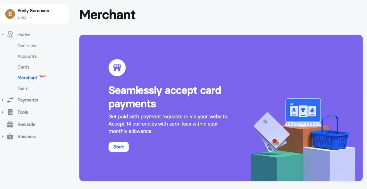 Revolut Merchant rekening